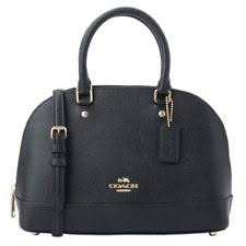 NEW WOMEN S COACH (F27591) BLACK CROSSGRAIN LEATHER MINI SIERRA SATCHEL  HAND BAG