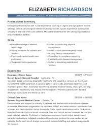 Emergency Room Nurse Resume Template Best Emergency Room Nurse Resumes Resumehelp