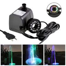 Fountain Pump With Led Light Details About Mini Submersible Water Pump With Led Light For Aquariums Koi Fish Pond Fountain
