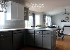... White And Grey Kitchen Cabinets Best Pictures Painted Gray With ...