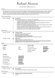 Resume Examples By Real People It Technician Resume Sample