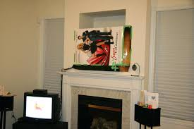 fireplace nook tv mount installing inches above the fireplace and patching the niche ablecom slydlock fireplace