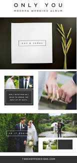 Modern Photo Album Design Wedding Album Template A Clean Modern Wedding Album