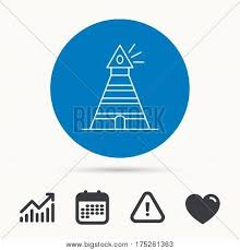 Lighthouse Symbol On A Chart Lighthouse Icon Vector Photo Free Trial Bigstock