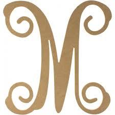 12 wood letter vine monogram m zoom