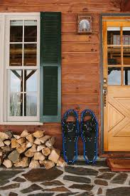 lake cabin furniture. Lodge And Lake House Furniture Styles, Snowshoes Outside Cabin O