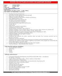 Resume For Software Developer Fresher Software Engineer Resume