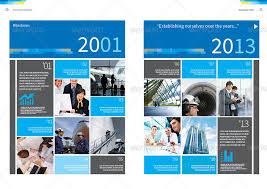 Annual Report Design Template Vol40 By Thinqueber GraphicRiver Delectable Annual Report Template Design