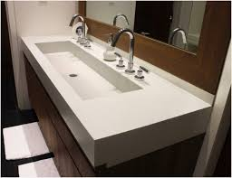 undermount trough sink 36 inch undermouth bathroom sink trought sinks with two faucets improbable smartness inspiration