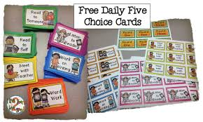 Daily 5 Pocket Chart Cards Free Daily 5 Choice Cards Goodwinnovate