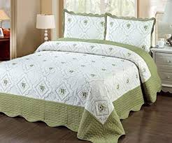quilted bed covers. Perfect Bed Fancy Linen 3pc Bedspread Quilted Bed Cover Queenking Sage Inside Covers