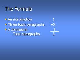 "malone s paragraph essay introduction ""omnivore s dilemma  3 the formula an introduction1 three body paragraphs 3 a conclusion 1 total paragraphs5"
