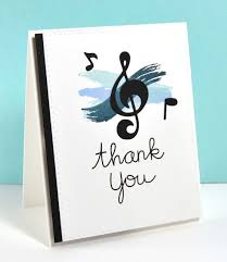 Thank You Card By Kara For Paper Smooches Music Notes Die