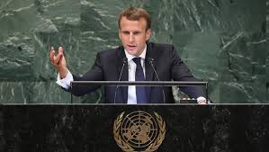 باريس - ماكرون يقول ان قمع الفلسطينيين لن يحل صراع الشرق الأوسط