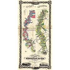 Lower Mississippi River Charts Amazon Com Map Poster Normans Chart Of The Lower
