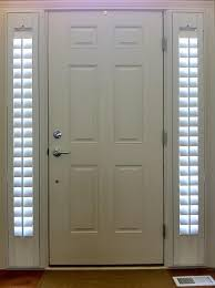 sidelights for front doorsEntry Door Sidelight Window Shutters  Cleveland Shutters