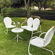 picture of griffith 4 piece metal outdoor set white d