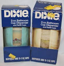 2 vintage retro nos dixie cup bathroom wall mount cup