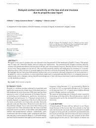 PDF) Delayed contact sensitivity on the lips and oral mucosa due to ...