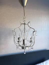ikea kristaller 3 armed chandelier light