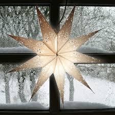 Weihnachtsstern Aus Papier 60cm Weißsilber