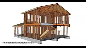 two story house framing part one gable roof and garage