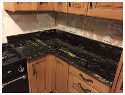 black granite countertops kitchen titanium galaxy in bathroom dark countertop ideas