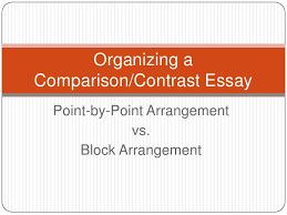comparison contrast essay organizing acomparison contrast essay point by point arrangement vs