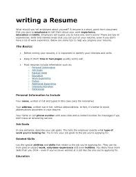 List Of Good Skills To Put On A Resume What To Put On A Resume List