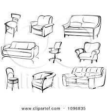 furniture clipart black and white. Delighful Furniture Furniture Clipart Black And White Throughout U