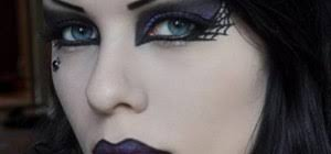 create a punk rock witch makeup look for