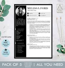 Modern Resume For Freshmen Modern Resume Template With Pictures Black Gray Resume In 3 Pages