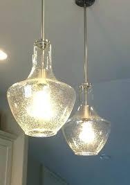 seeded glass light pendant lights fixtures lamp listed vintage