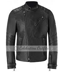 david beckham belstaff launch leather jacket