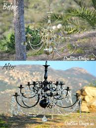 black chandelier painted closdurocnoir com spray painting chandelier silver musethecollective