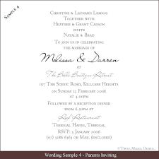 Wedding Invite Example Wording