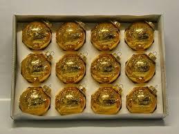 12er Set Christbaumkugeln Gold Glänzend Mit Glitter