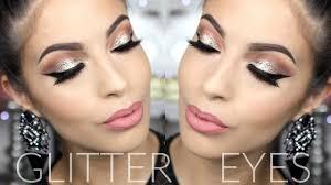 glitter smokey eye winter makeup tutorial