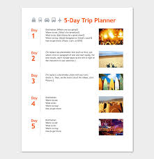 Business Trip Planner Business Travel Itinerary Template 23 Word Excel Pdf