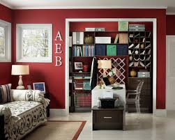 closet home office. example of a trendy home office design in other closet