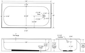 average bathtub size bathroom acadiancreations co