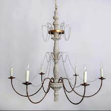 list antique phx iron and wood chandelier in rusted finish 10819