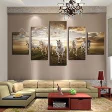 high quality art pictures running horse large hd modern home wall