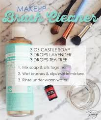 natural makeup brush cleaner using young living essential oils o essentials