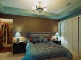 blue bedroom color schemes. Brown And Blue Bedroom Color Schemes Vertical Wooden Paneling Platform Bed With Tufted Headboard Modern Shaded I
