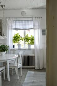 Kitchen Window Dressing Charming Window Dressing Using Cheer Linen Curtains Combined With