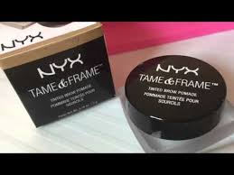 nyx tame and frame blonde tinted brow pomade review and swatch anastasia dipbrow dupe