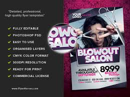 Hair Salon Flyer Templates Blowout Hair Salon Flyer Template Flyerheroes Fancy Ideas Staggering