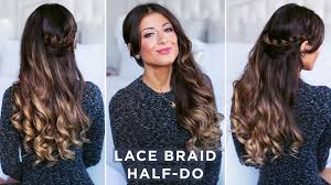 Luxy Hair Style lace braid halfdo hairstyle youtube 5645 by wearticles.com
