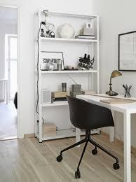 office shelf unit. Home Office Shelving Units. Mini Gold Desk Lamp With Portable Black Armchair Also Scandinavian White Shelf Unit